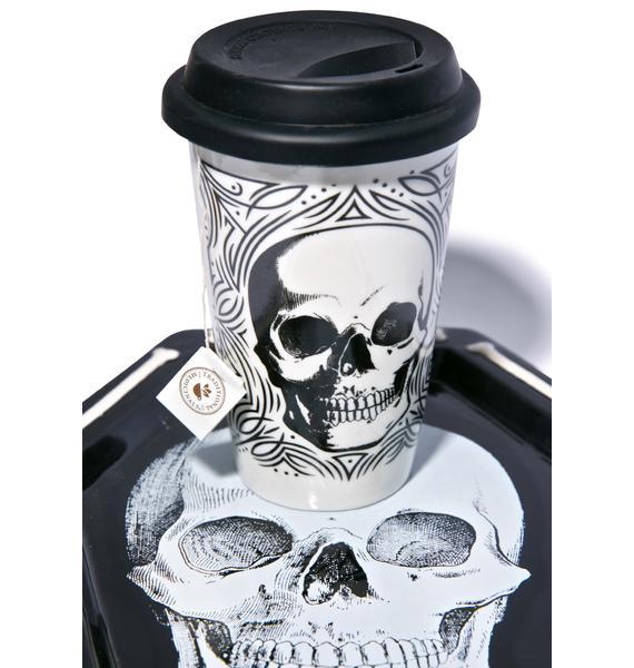 Sourpuss Clothing Skull Tumbler