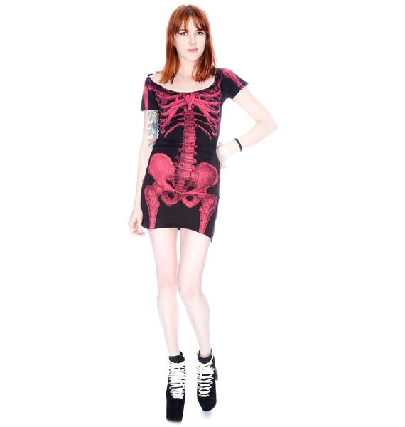 Kreepsville 666 Skeleton Tunic Dress
