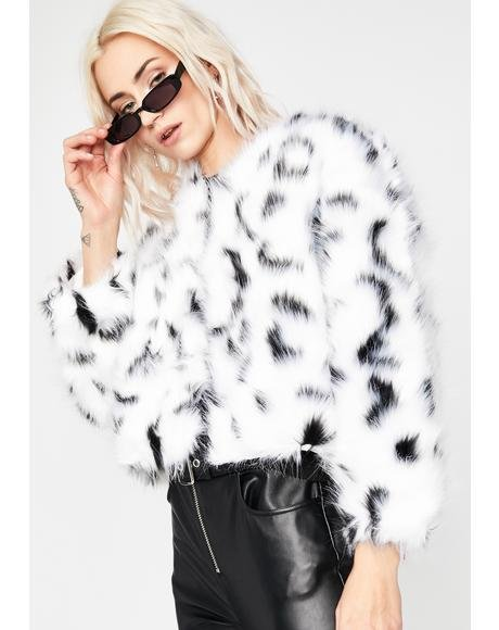 Doggin' On Ya Faux Fur Jacket