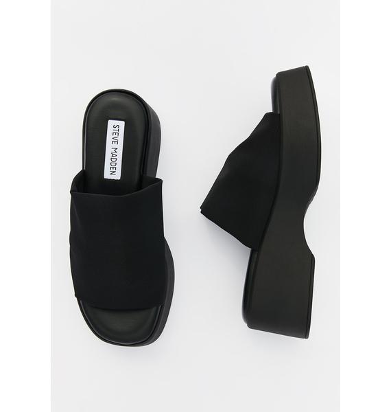 Steve Madden Slinky Platform Slide Sandals