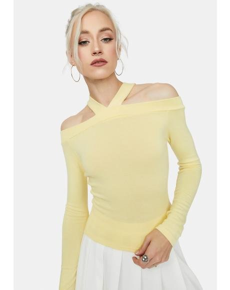 Lemon Typical Me Off The Shoulder Top