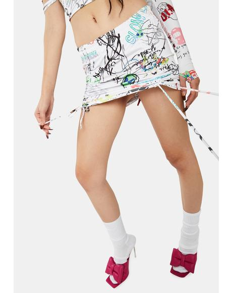Spot Convertible Mini Skirt