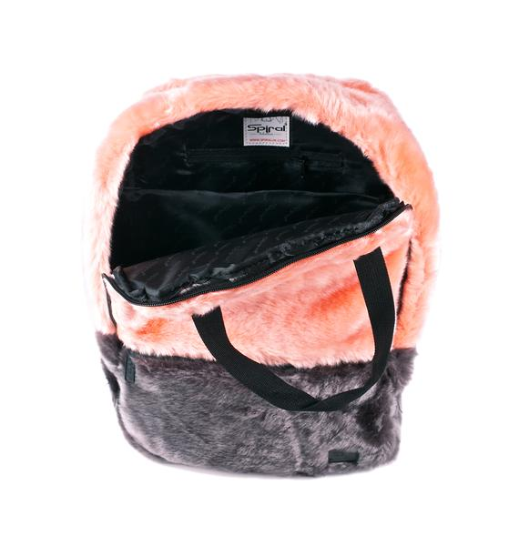 Spiral UK Faux Fur Coral OG Backpack