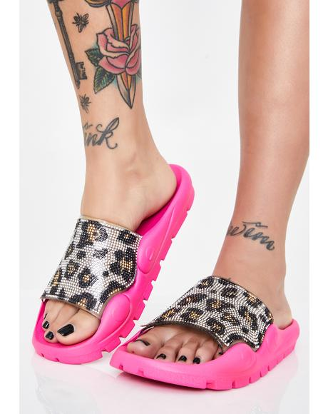Freak Flair Leopard Slides