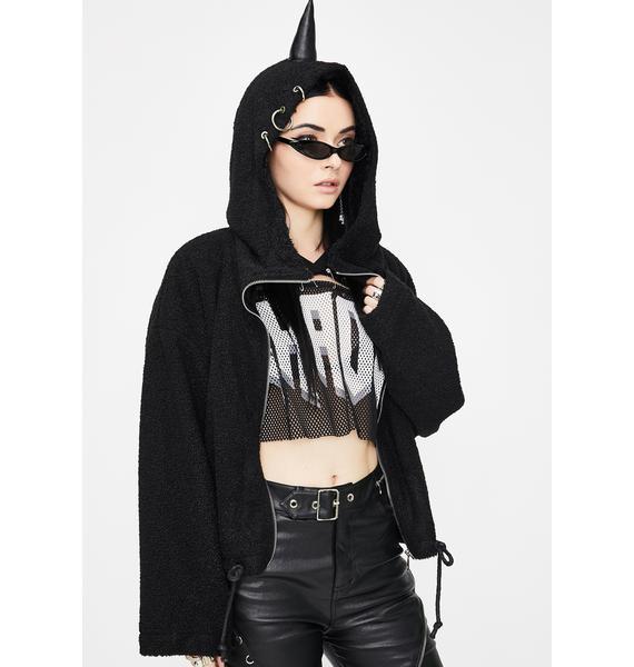 Punk Rave Hell-born Unicorn Fuzzy Jacket