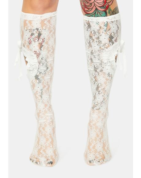 Love Lost Heart Cutout Lace Socks