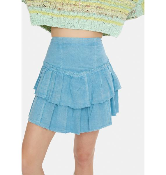Free People Rain Song Ruffles In The Sand Skirt