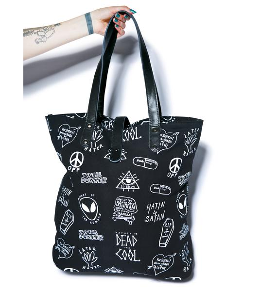 Disturbia Downer Tote Bag