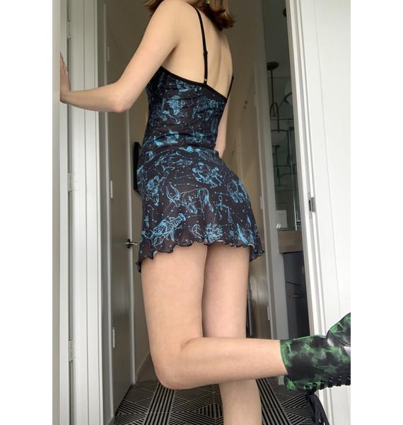 HOROSCOPEZ Galaxies Apart Mini Dress