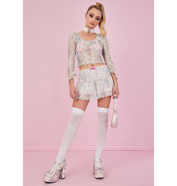 Sugar Thrillz Room Of Wonders Mesh Skirt