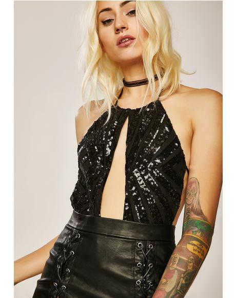 Let'z Party Sequin Bodysuit