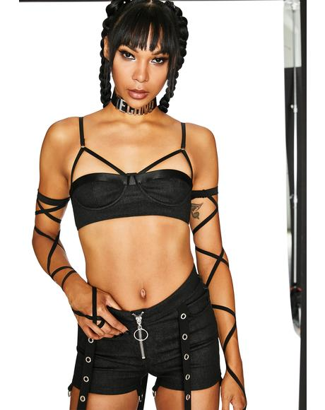 Cyber Command Strappy Bra Top