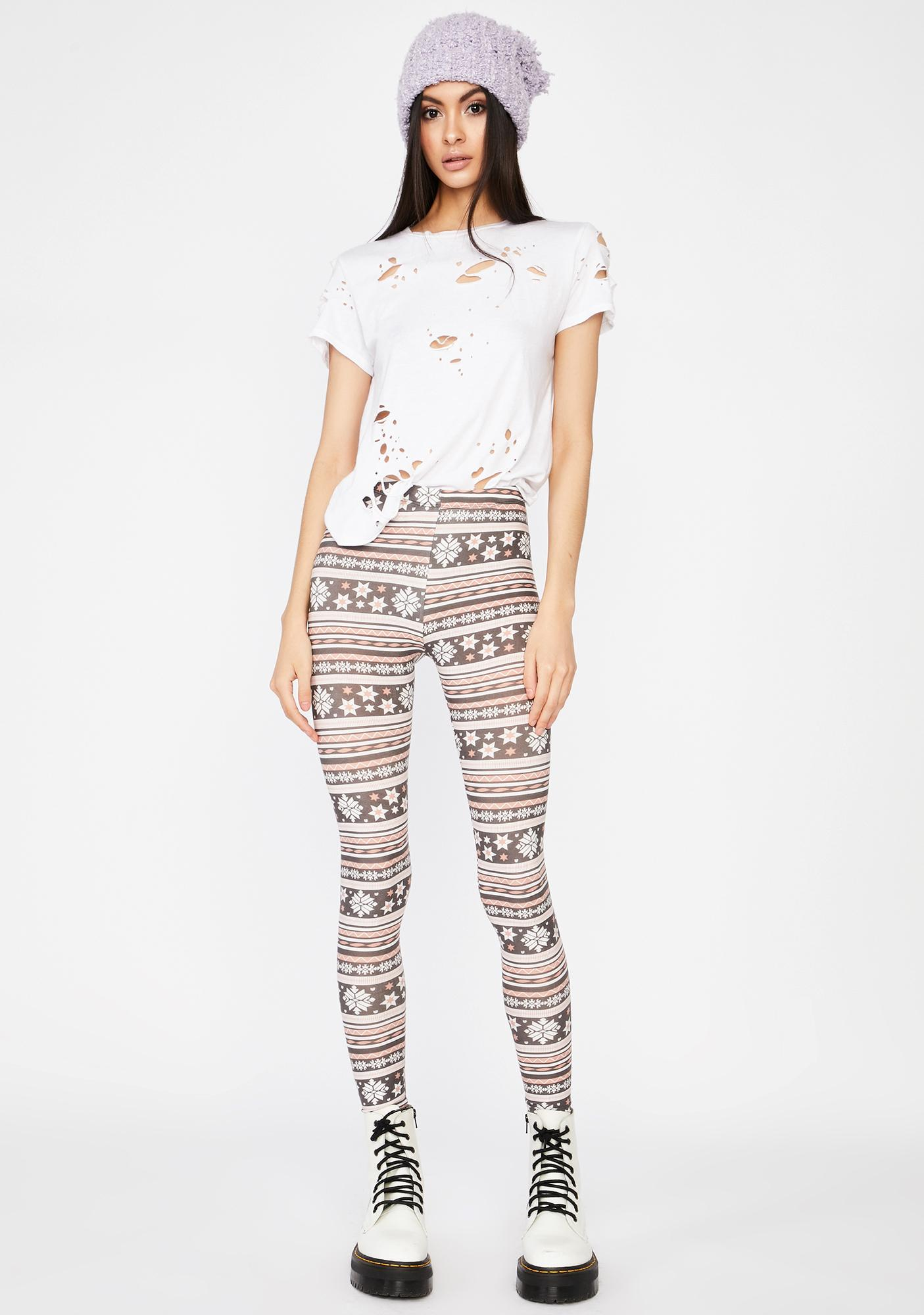 Frightful Weather Snowflake Leggings