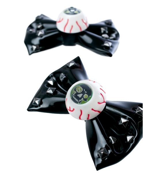 Kreepsville 666 Eyeball Bow Clips