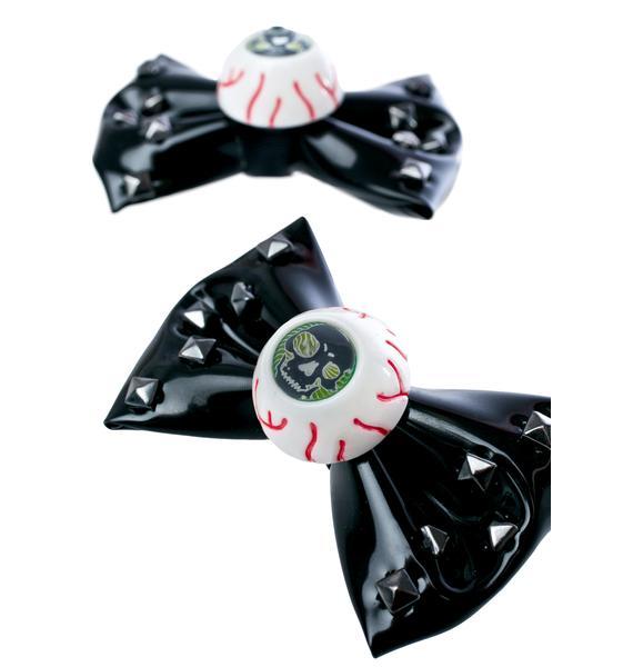 Kreepsville 666 Eyeball Bow Clips