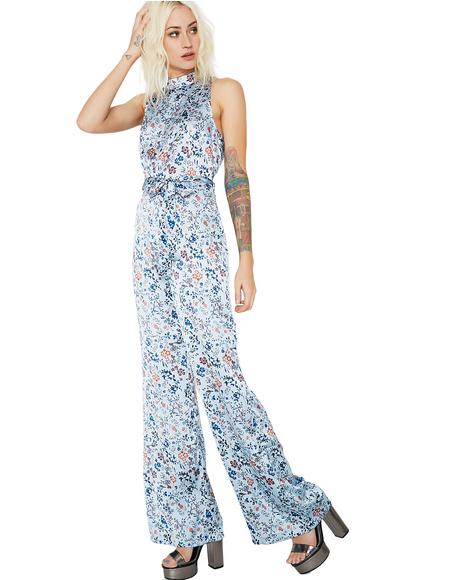Walk On By Floral Jumpsuit
