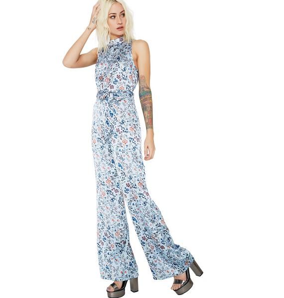 Glamorous Walk On By Floral Jumpsuit