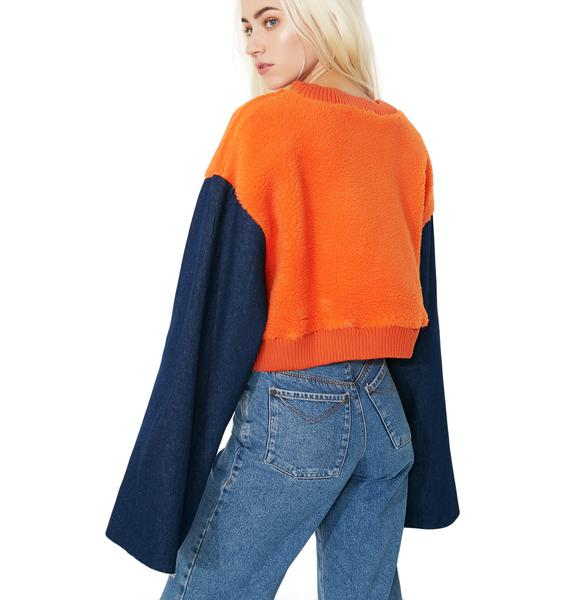 Double Crosser Cropped Sweatshirt