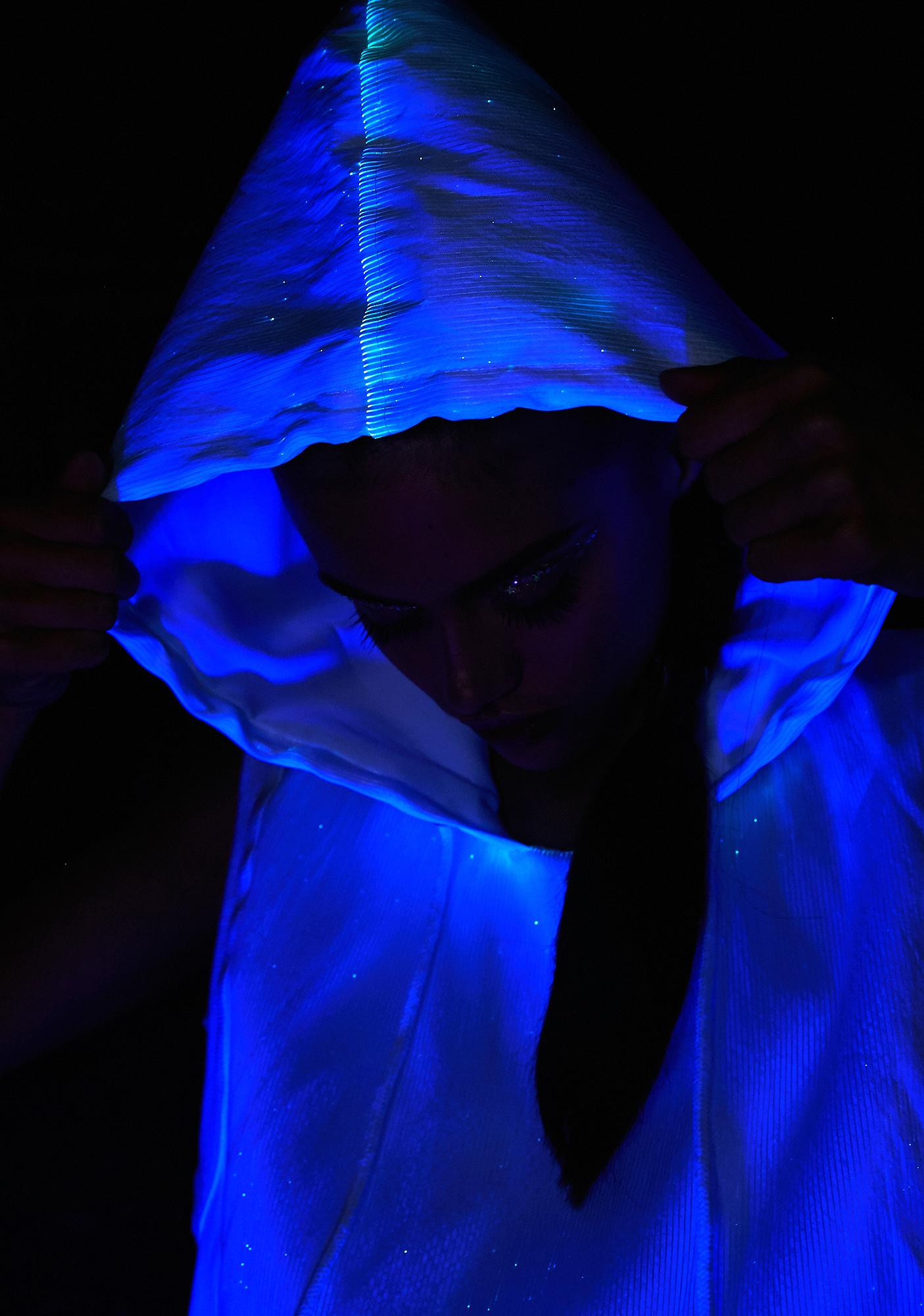Rave Nation Fiber Optic Sleeveless Hoodie