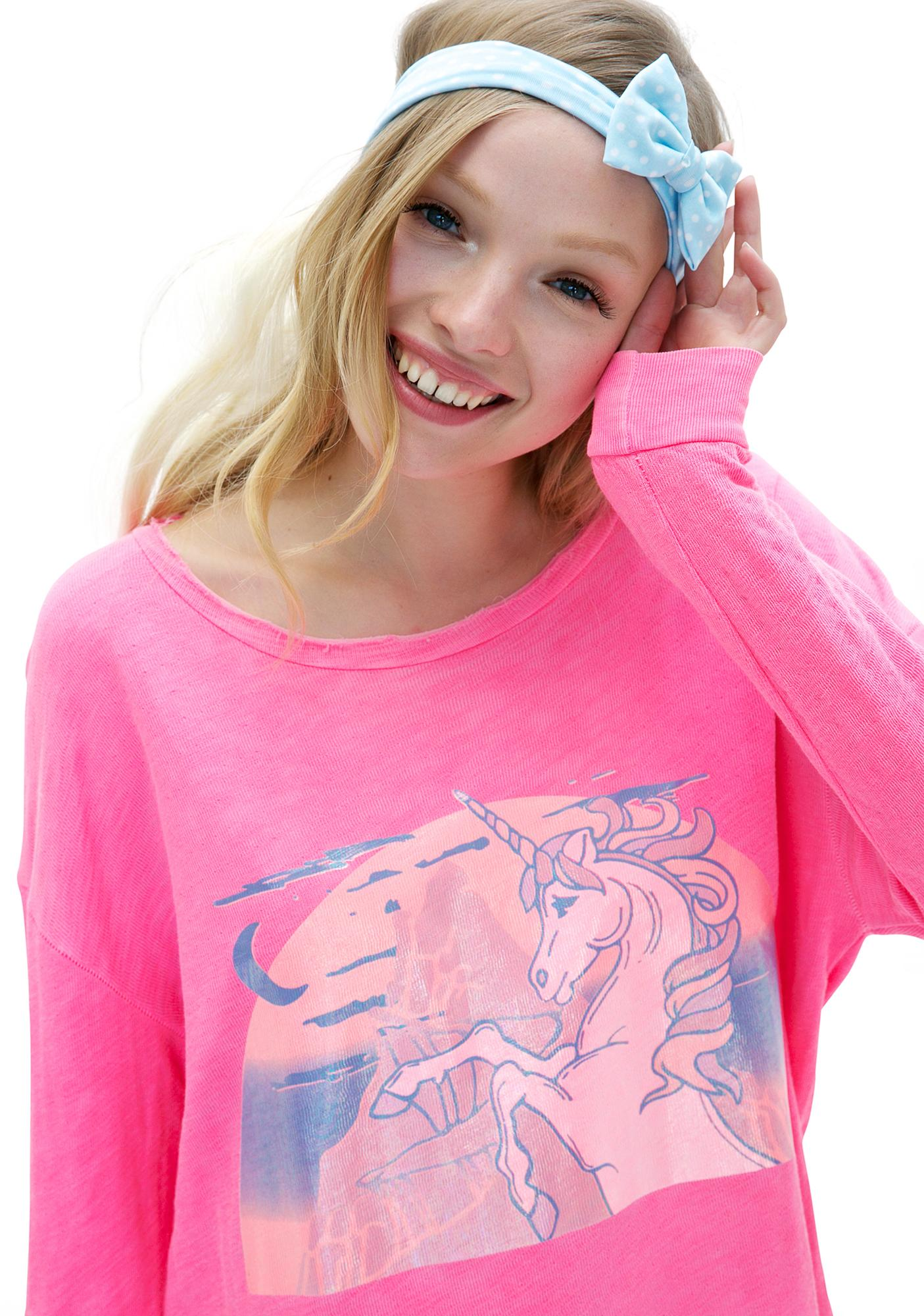 Wildfox Couture Hologram Unicorn Tuscany Tunic