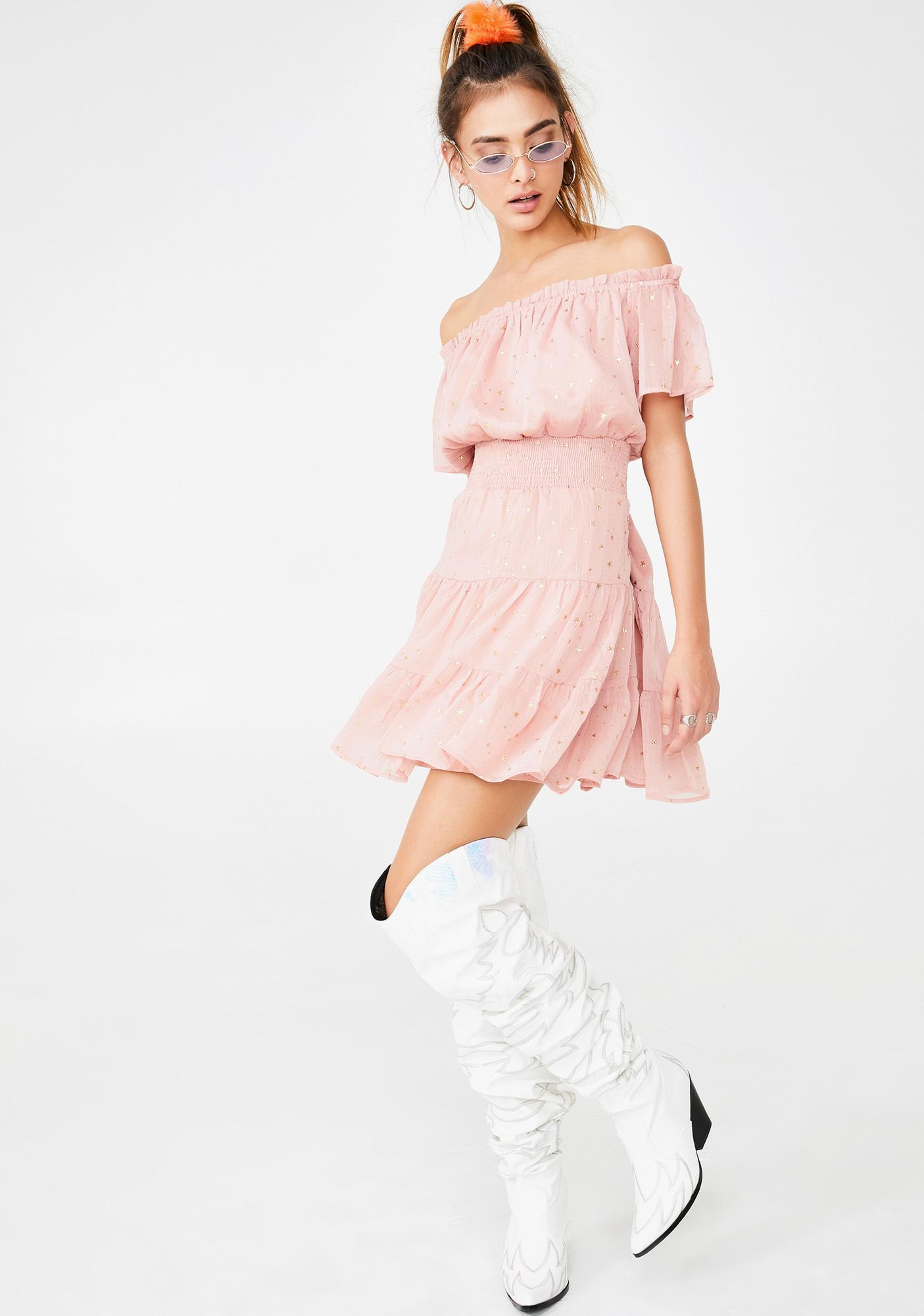 Blushing Over You Mini Dress