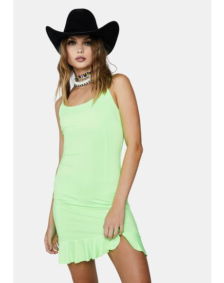 Neon Heart Bodycon Dress