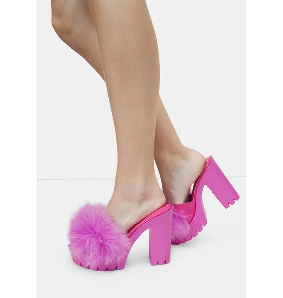 Gem Totally Buggin Feather Platform Heels