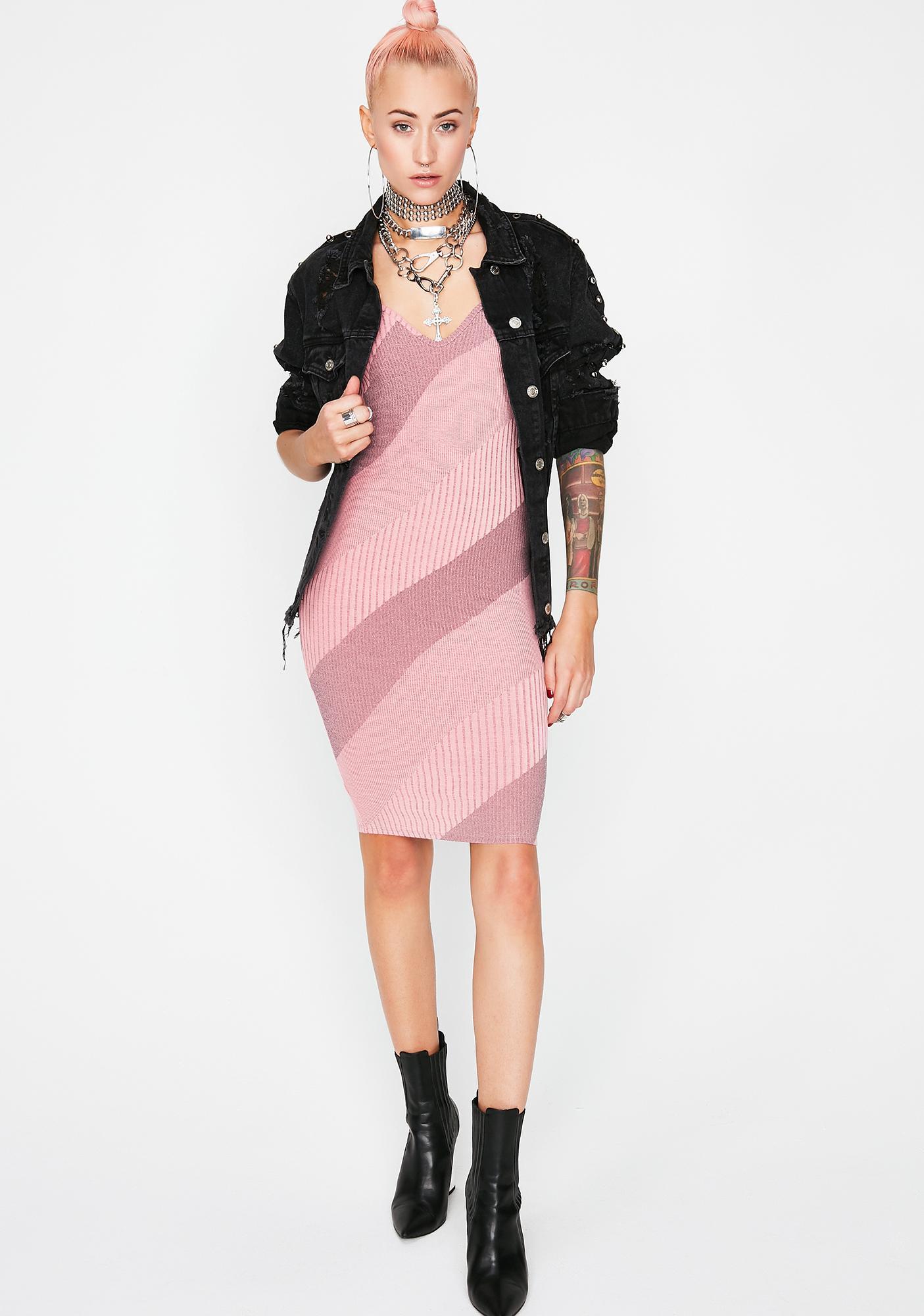 Attention Addict Stripe Dress