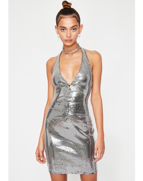 Shook Hottie Alert Sequin Dress