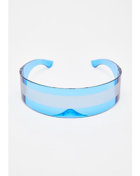 Cobalt Robo Raver Shield Sunglasses