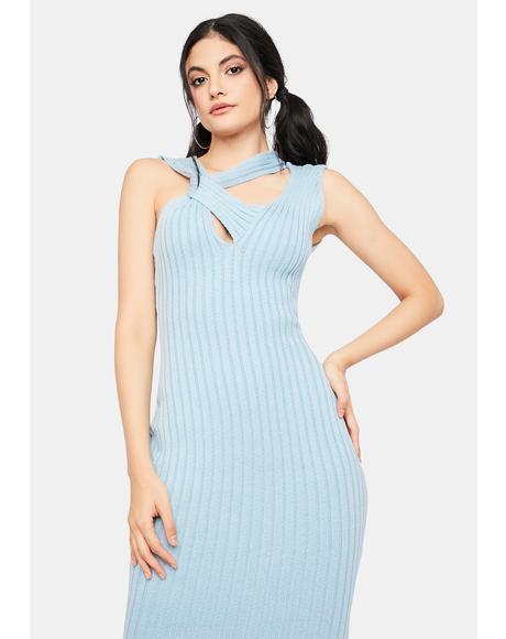 Unlimited Texts Knit Midi Dress