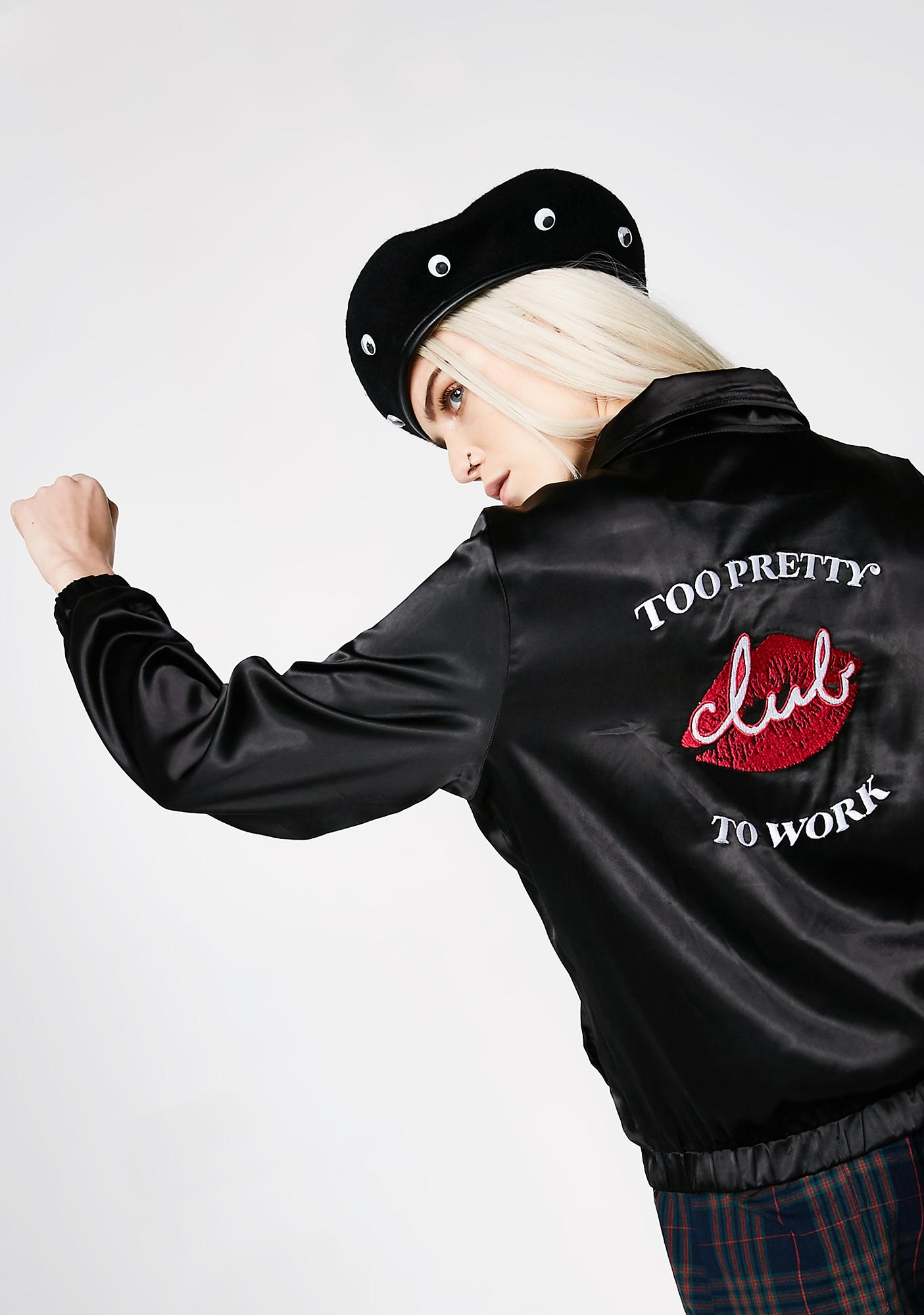 Valfré Too Pretty To Work Bomber Jacket