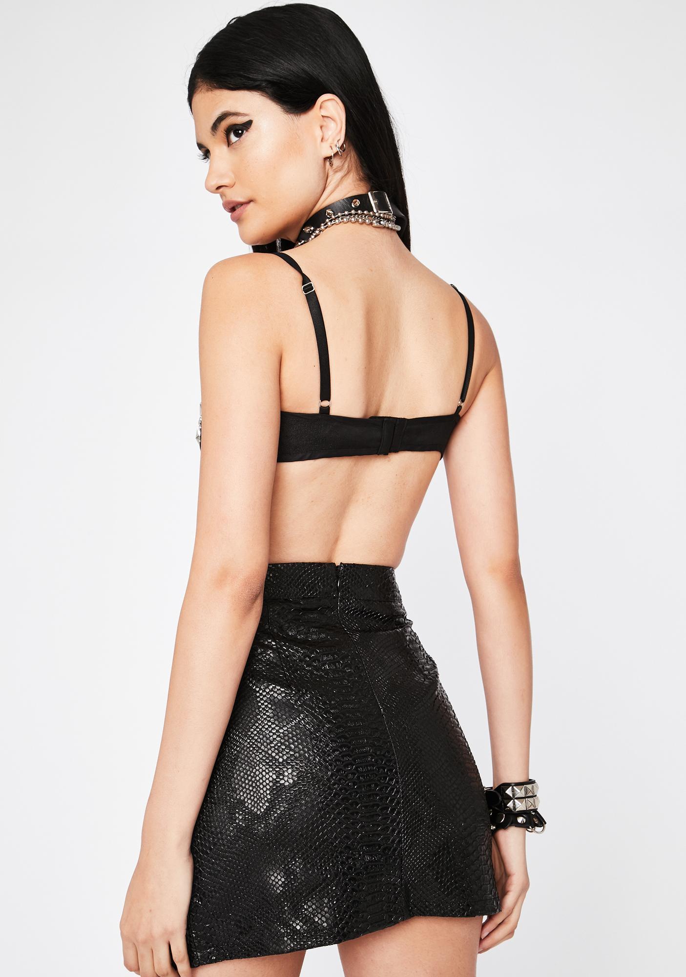 Slick Fit Mini Skirt