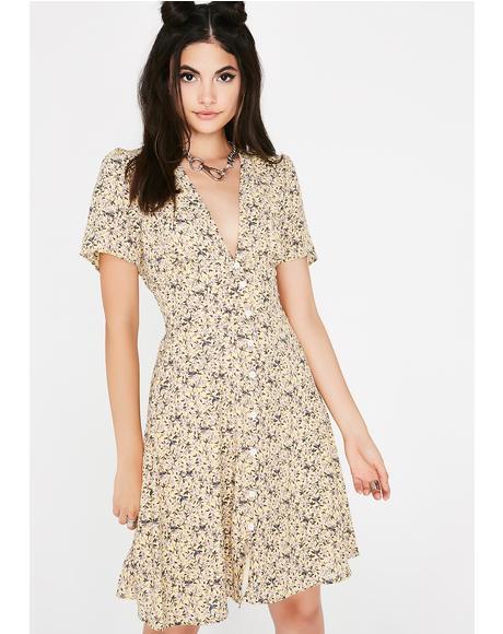 Proper Lady Floral Dress