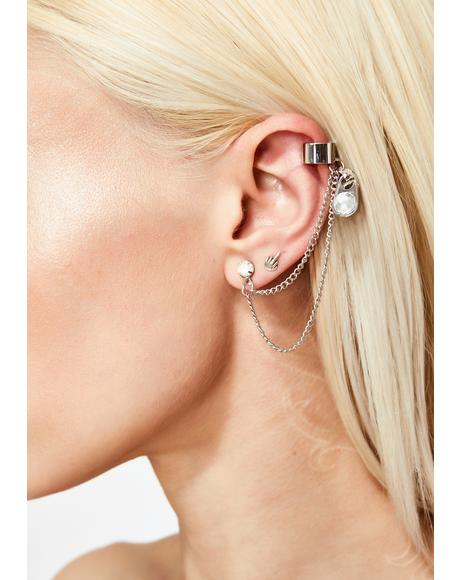 Zip Locked Cuff Earring