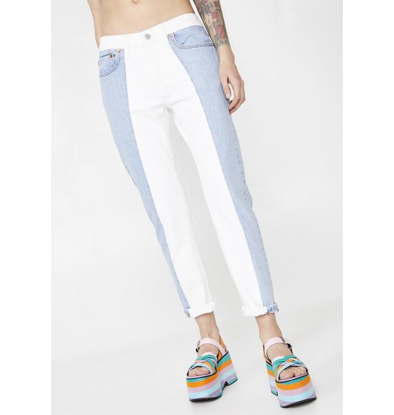 Levis 501 Cropped Taper Jeans