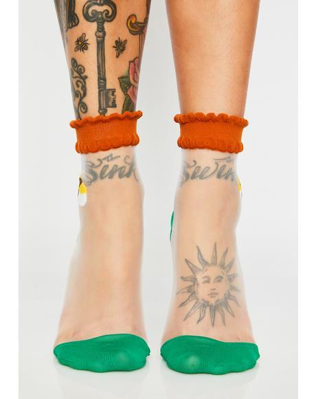 Sushi Lover Sheer Socks