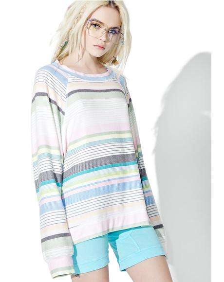 Beach Towel Stripe Sommers Sweater