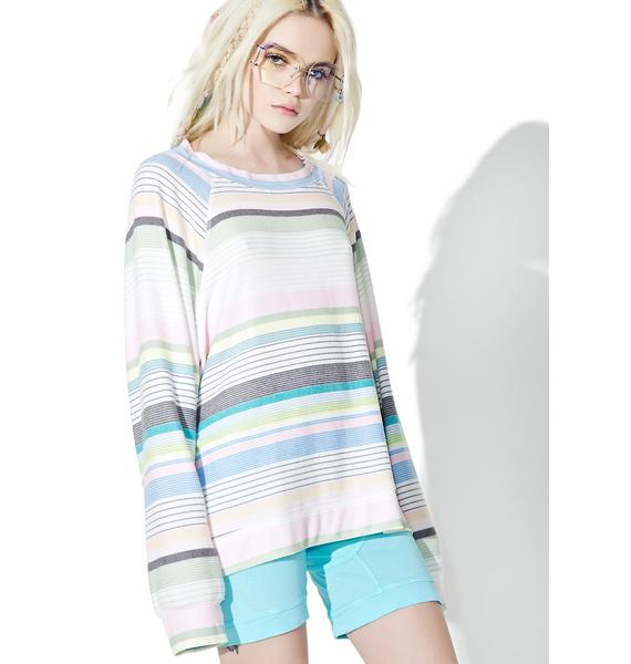 Wildfox Couture Beach Towel Stripe Sommers Sweater