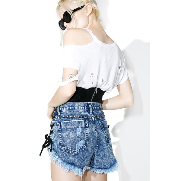 Glamorous Front Row Lace Up Shorts