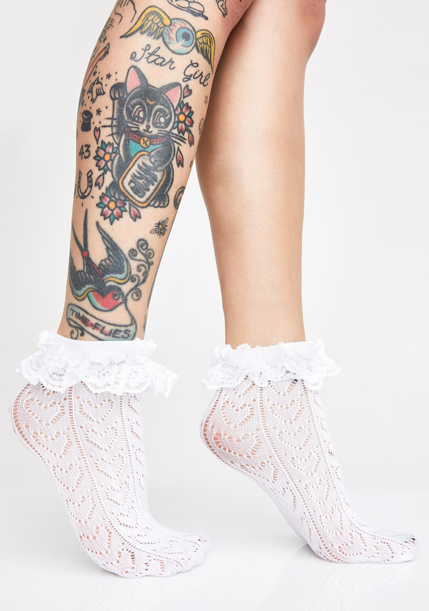Angel Pure Ruffle Socks