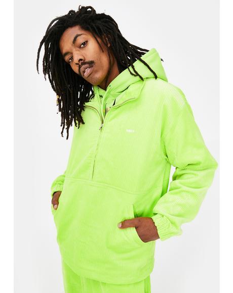 Obey Hugo Neon Anorak Cord Jacket