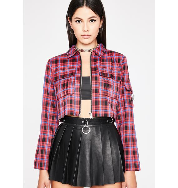 Berry Word Of Mouth Plaid Jacket