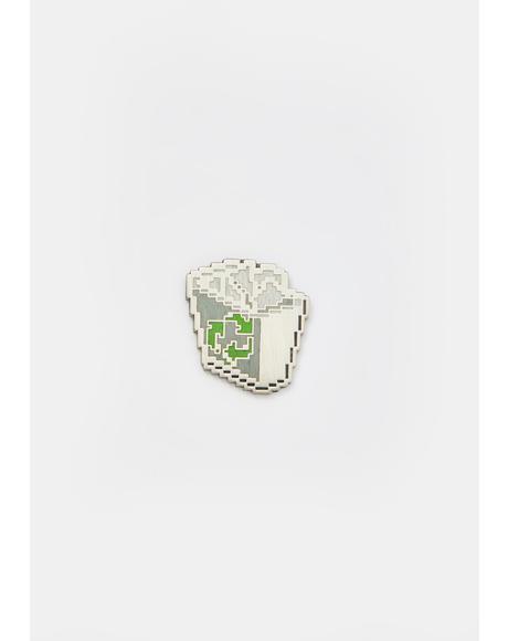 Recycling Bin Enamel Pin