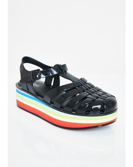 Prism Possession Platform Sandals