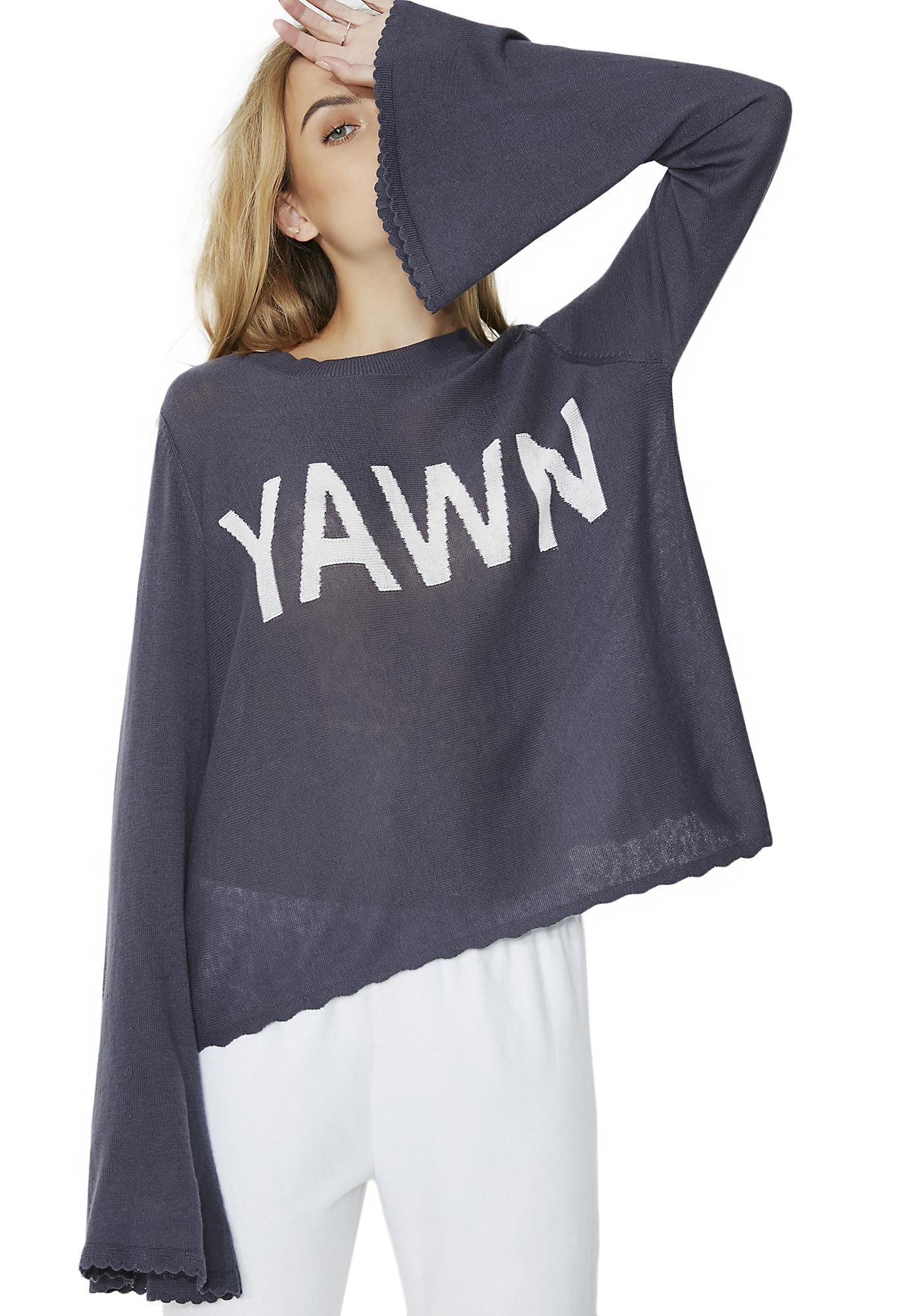 Wildfox Couture Yawn Sweater
