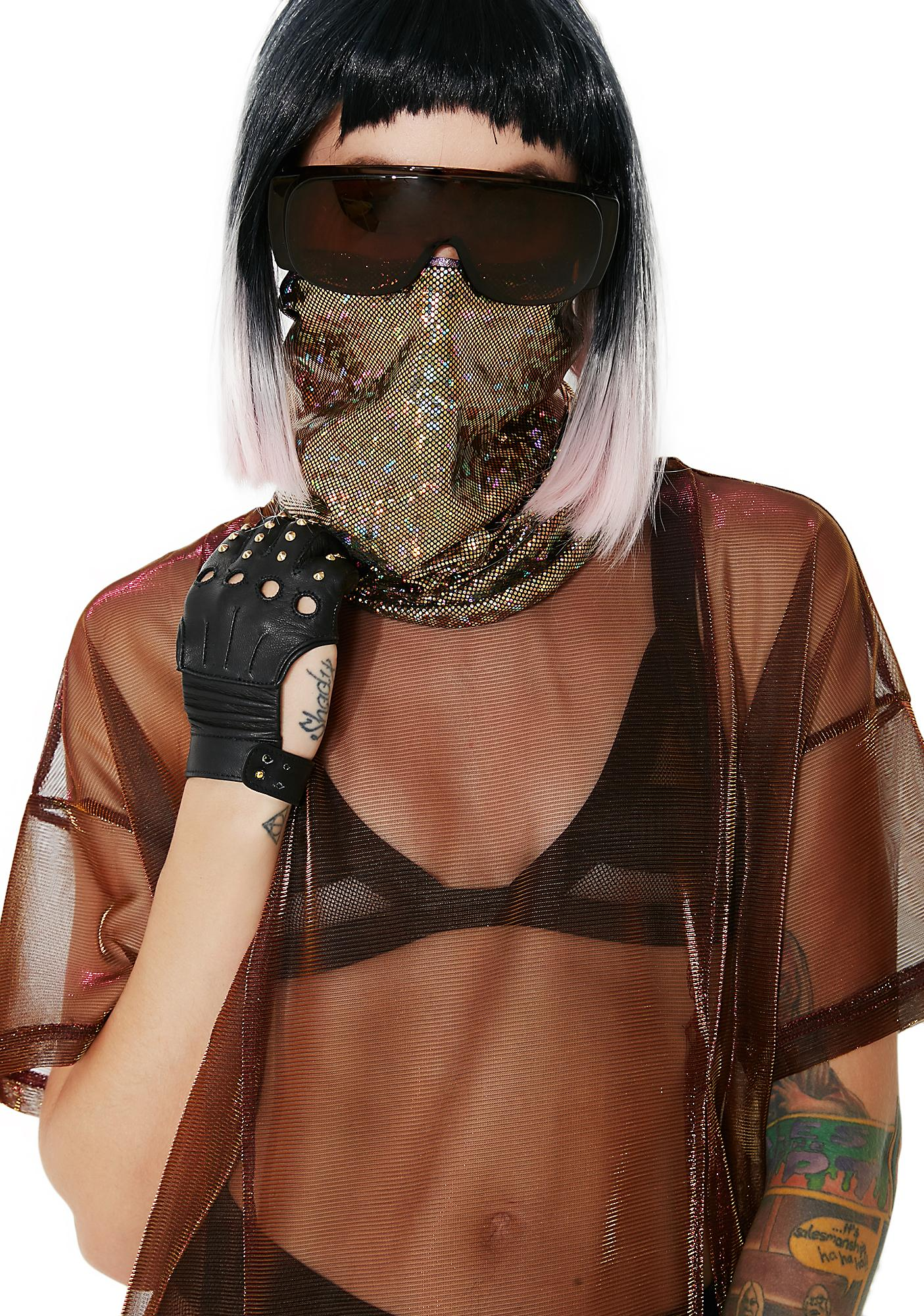 Club Exx Lotus White-Out Reversible Face Mask