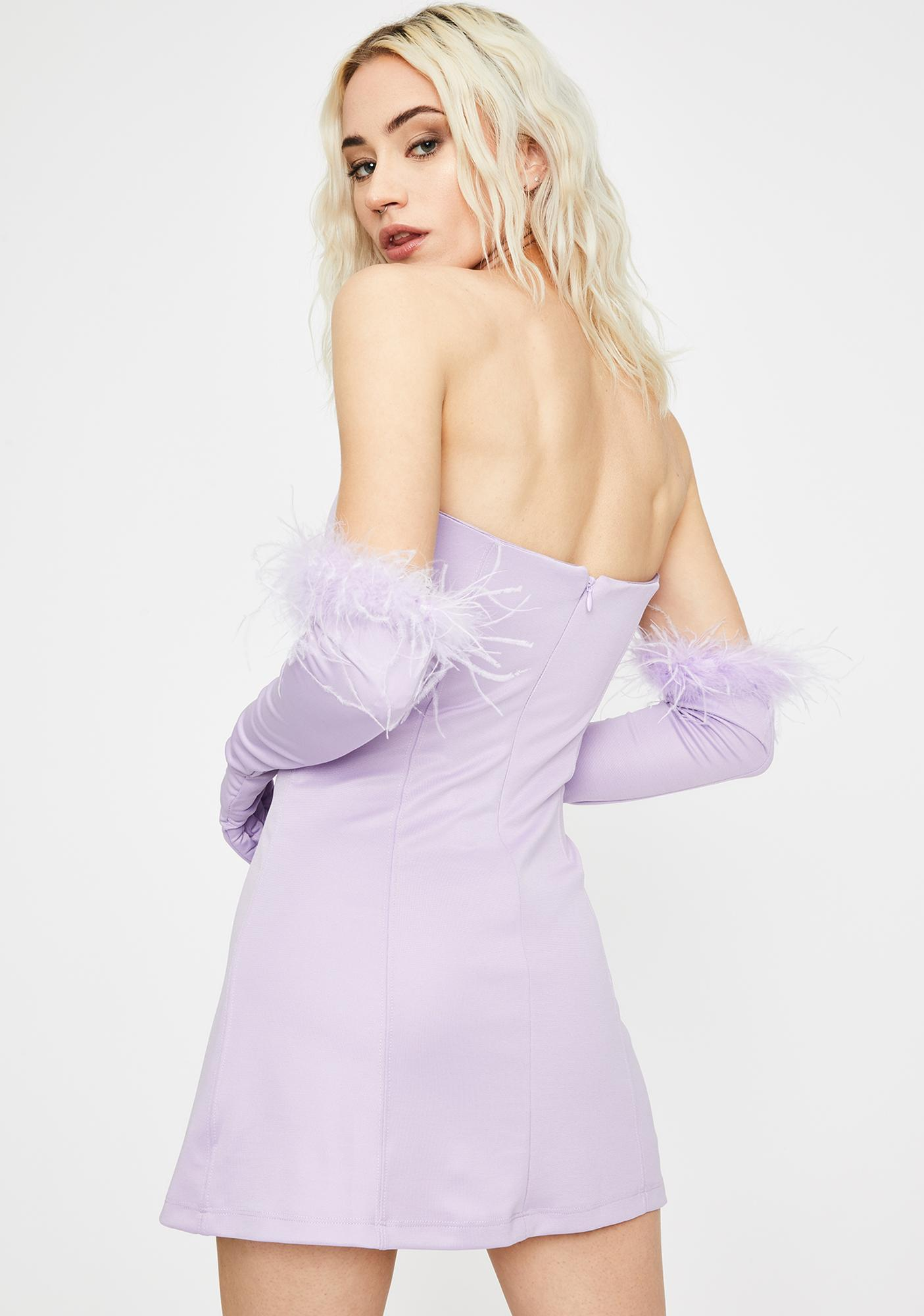 Kiki Riki Lilac Have Some Fun Strapless Dress