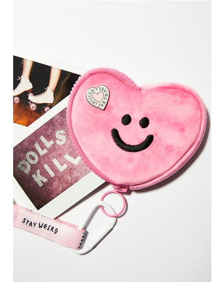 Pink Happy Heart Purse