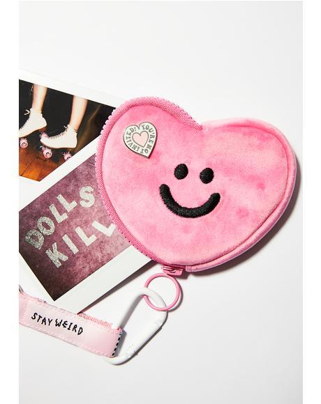 Pink Happy Heart Purse